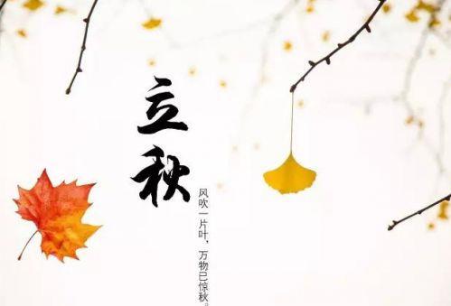 立秋的朋友圈说说心情 关于立秋的优美句子简单